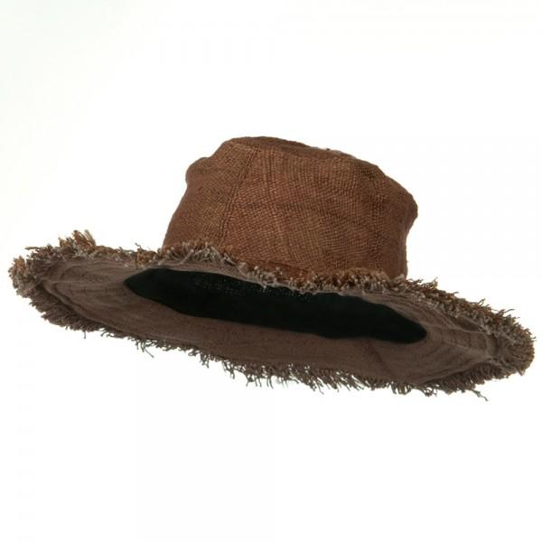 35db8da0 Hemp Hat with Frayed Brim - Brown - The Hemp Shoppe