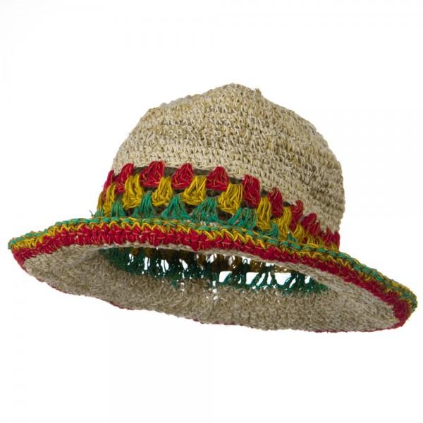 584973f7 Hemp with Rasta Brim Hat – Natural RGY