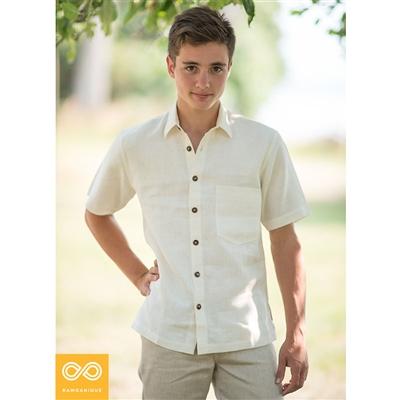Montmartre slim fit short sleeve hemp shirt the hemp shoppe for Dress shirt fitted vs slim